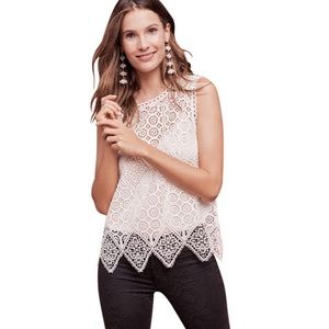 Anthropologie Lacework Shell Tank by Deletta Small